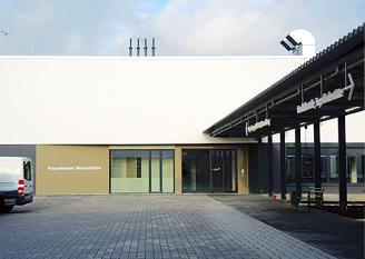 Foto Neubau Praunheimer Werkstätten Eingang