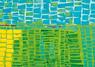 Grün-blauer Bildaussschnitt